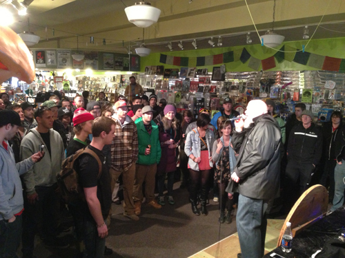 Brother Ali Performs in Cactus Records
