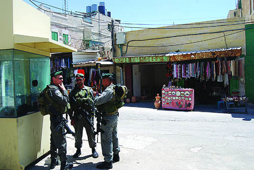 An Israeli patrol in the Old City - Derek Smallwood